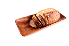 Cut grey bread Royalty Free Stock Photography