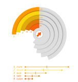 Cut grey diagram with percents. Stock Photography