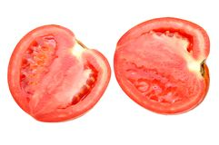 Cut haft tomato Stock Images