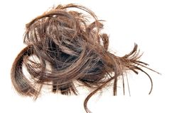 Cut hair Stock Photos
