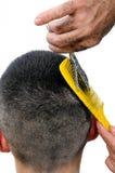 Cut hair man. Stock Images
