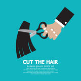 Cut The Hair. Vector Illustration stock illustration