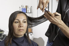 Cut at the hairdresser Royalty Free Stock Photo