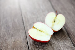 Cut in Half Apple Stock Photography