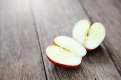 Cut in Half Apple Stock Photography