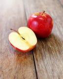 Cut in Half Apple Royalty Free Stock Photo