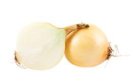 Cut in half onion composition Stock Photo