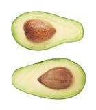 Cut in half open avocado fruit Stock Images