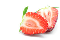 Cut half Strawberry Stock Images