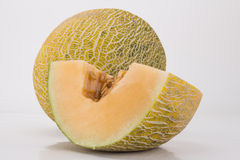 Cut the hami melon. The king of hami melon melon the laudatory name, the sugar content is about 15%. Forms, unique flavor, some with creamy taste, some contain royalty free stock image