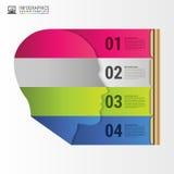 Cut head shape. Infographics design template. Vector Stock Photos