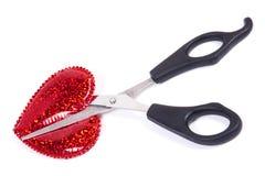 Cut heart Royalty Free Stock Photos