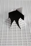 cut hole paper sheet Στοκ Φωτογραφίες