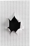 cut hole paper sheet stop word Στοκ εικόνες με δικαίωμα ελεύθερης χρήσης