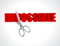 cut impossible to possible concept Stock Photography