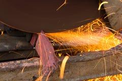 Cut iron stock photo