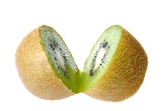 Cut Kiwi Fruit  Stock Images