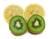 Cut kiwi and lemons Stock Photo