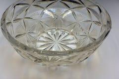 Cut Lead Crystal Bowl vessel vignette vintage . royalty free stock photography