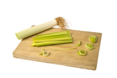 Cut leek Stock Photography