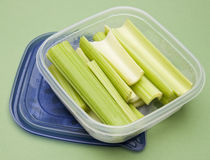 Cut Leftover Celery Royalty Free Stock Photos