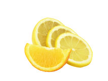 The cut lemon Royalty Free Stock Image