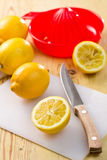 Cut lemon Royalty Free Stock Photos