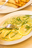 Cut lemon Stock Photo