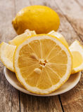 Cut lemon Stock Photography