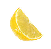 Cut lemon fruits isolated with clipping path Royalty Free Stock Photos