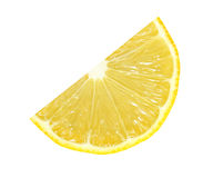 Cut lemon fruits isolated with clipping path Royalty Free Stock Photography
