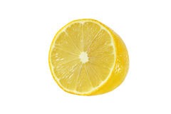 Cut lemon fruits  on white. Background Stock Photography