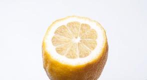 cut lemon isolated on white background, Stock Photo