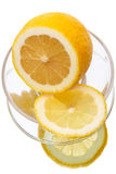 Cut lemon on a plate Stock Photography