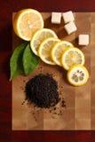 Cut lemon Stock Photo