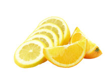 The cut lemon and two s Royalty Free Stock Image