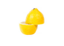 Cut a lemon white background Royalty Free Stock Photography
