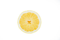 Cut a lemon white background Royalty Free Stock Photo