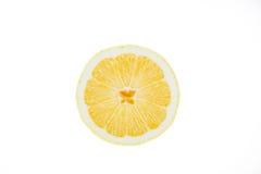 Cut a lemon white background Royalty Free Stock Photo