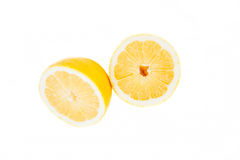 Cut a lemon white background Royalty Free Stock Photos