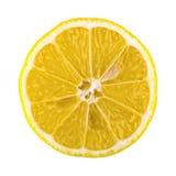Cut lemon on a white background Stock Image