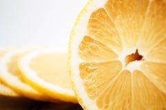 Cut lemon on a white background Royalty Free Stock Image