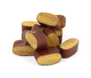Cut licorice chunks Stock Photography