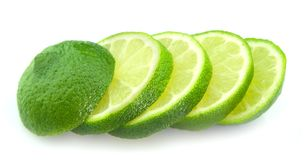 Cut lime Stock Photo