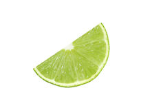 Cut lime fruits   with clipping path Stock Photos