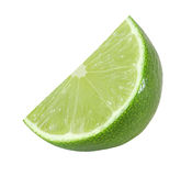 Cut lime fruits isolated  with clipping path Royalty Free Stock Photo
