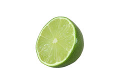 Cut lime fruits isolated. On white background Royalty Free Stock Image