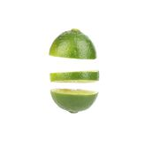 Cut lime. Royalty Free Stock Images
