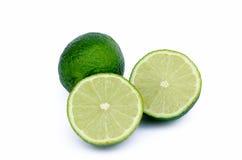 The cut lime Stock Photos