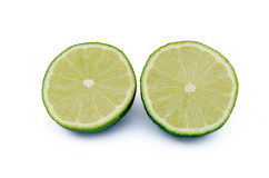 The cut lime Royalty Free Stock Images
